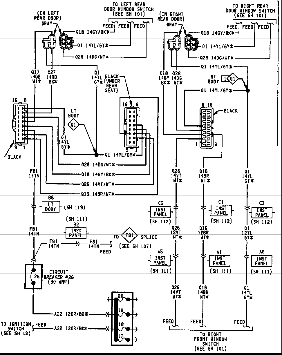 98 Jeep Cherokee Door Wiring Diagram - Fusebox and Wiring Diagram  component-twin - component-twin.memedia.it | 1998 Jeep Cherokee Window Wiring Diagram |  | memedia.it